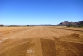 Well maintained airfield at Kansimba