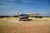 Guests arrived with a cessna caravan aircraft